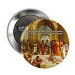 """Raphael School of Athens 2.25"""" Button (100 pack)"""
