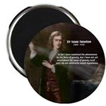 "Sir Isaac Newton: Gravity 2.25"" Magnet (10 pack)"
