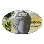 Eastern Philosophy: Buddha Oval Sticker