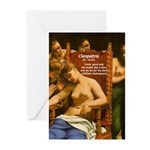 Death of Cleopatra Greeting Cards (Pk of 10)