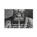 Eastern Wisdom: Confucius Rectangle Magnet (100 pa