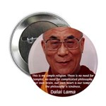 """His Holiness the Dalai Lama 2.25"""" Button (100 pack"""