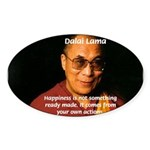 The Dalai Lama Oval Sticker