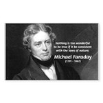 Michael Faraday Rectangle Sticker