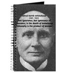 Philosopher: Alfred Whitehead Journal