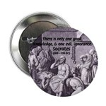 """Death of Socrates 2.25"""" Button (10 pack)"""