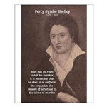 Writer Percy Bysshe Shelley Small Poster