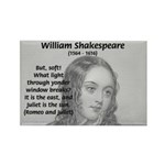 Tragic Love: Romeo and Juliet Rectangle Magnet (10