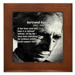 Bertrand Russell Framed Tile