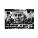 Bertrand Russell Philosophy Rectangle Magnet