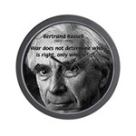 Bertrand Russell Wall Clock