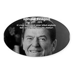 Humour of Ronald Reagan Oval Sticker