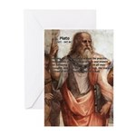 Plato: Philosophy / Equality Greeting Cards (Packa