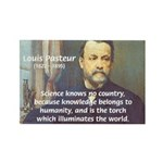Louis Pasteur: Science Humanity Rectangle Magnet (