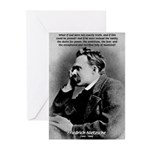 Vanity God and Nietzsche Greeting Cards (Package o