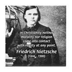 Critic of Religion: Nietzsche Tile Coaster