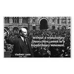 USSR Foundation Lenin Rectangle Sticker