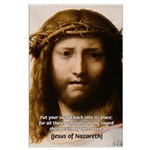 Jesus Peace and Love Large Poster