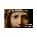 Jesus Peace and Love Rectangle Magnet (10 pack)