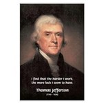 Work and Luck Jefferson Large Poster