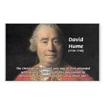 Christianity and David Hume Rectangle Sticker