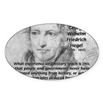 History Lessons Georg Hegel Oval Sticker