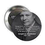 """Peace and Justice Eisenhower 2.25"""" Button (100 pac"""