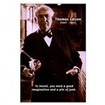 Imagination Thomas Edison Large Poster