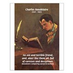 French Poets Baudelaire Small Poster