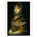 Sexuality Feminism Goya Small Poster