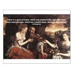 Pythagoras Quote on Women  Small Poster