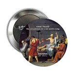 "Know Thyself Socrates Quote 2.25"" Button (100 pack"