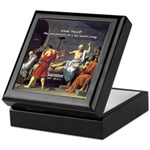 Know Thyself Socrates Quote Keepsake Box
