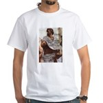 Aristotle Education Quote White T-Shirt
