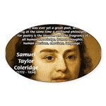 Samuel Taylor Coleridge Poet Oval Sticker