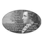 Goethe on Pure Thought Oval Sticker