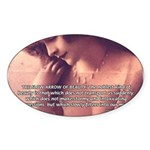 Sexuality, Beauty Nietzsche Oval Sticker