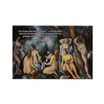 Cezanne Landscape Nude Rectangle Magnet (100 pack)