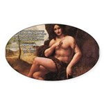 Leonardo da Vinci Quote Oval Sticker