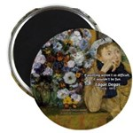 Degas Difficulty of Painting Magnet