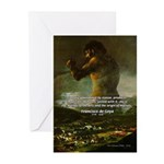 Goya Colossus Fantasy Quote Greeting Cards (Packag