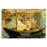 French Painter Manet Quote Large Poster