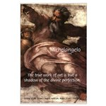 Michelangelo Perfection Quote Large Poster