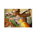 Words on Genius Michelangelo Rectangle Magnet (100