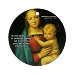 Raphael Madonna Painting Ornament (Round)
