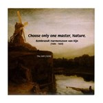 Rembrandt Painting & Quote Tile Coaster