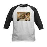 Renoir Quote and Landscape Kids Baseball Jersey
