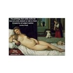 Freud Erotic Quote and Titian Rectangle Magnet (100