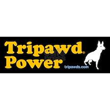 tripawds three legged dog bumper stickers